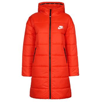 Υφασμάτινα Γυναίκα Μπουφάν Nike W NSW TF RPL CLASSIC HD PARKA Red / Black / Άσπρο