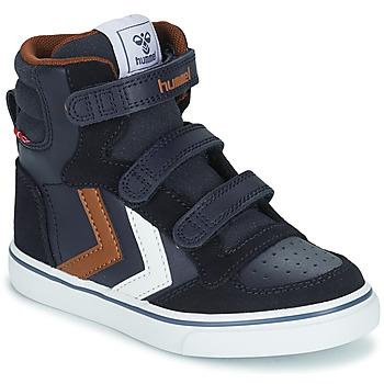 Παπούτσια Παιδί Ψηλά Sneakers Hummel STADIL PRO JR Μπλέ / Brown
