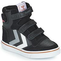 Παπούτσια Παιδί Ψηλά Sneakers Hummel STADIL PRO JR Black / Grey