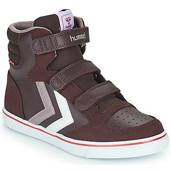 Ψηλά Sneakers Hummel STADIL PRO JR ΣΤΕΛΕΧΟΣ: Δέρμα & ΕΠΕΝΔΥΣΗ: Ύφασμα & ΕΣ. ΣΟΛΑ: Ύφασμα & ΕΞ. ΣΟΛΑ: Καουτσούκ