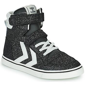 Παπούτσια Παιδί Ψηλά Sneakers Hummel SLIMMER STADIL GLITTER JR Silver