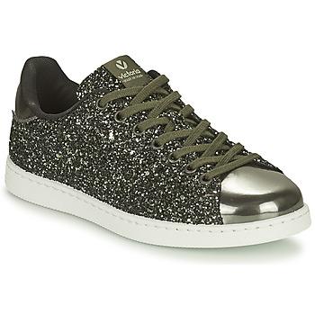 Παπούτσια Γυναίκα Χαμηλά Sneakers Victoria TENIS GLITTER Kaki / Silver
