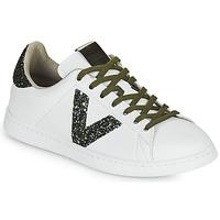 Παπούτσια Γυναίκα Χαμηλά Sneakers Victoria TENIS PIEL Άσπρο / Kaki