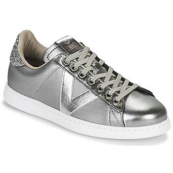 Παπούτσια Γυναίκα Χαμηλά Sneakers Victoria TENIS METAL Silver