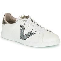 Παπούτσια Γυναίκα Χαμηλά Sneakers Victoria TENIS PIEL VEGANA Άσπρο / Grey