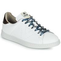 Παπούτσια Γυναίκα Χαμηλά Sneakers Victoria TENIS VEGANO SERPIENTE Άσπρο / Bronze