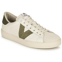 Παπούτσια Γυναίκα Χαμηλά Sneakers Victoria BERLIN PIEL CONTRASTE Άσπρο / Kaki