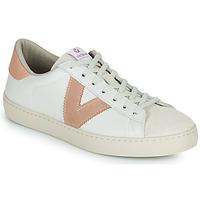 Παπούτσια Γυναίκα Χαμηλά Sneakers Victoria BERLIN PIEL CONTRASTE Άσπρο / Ροζ