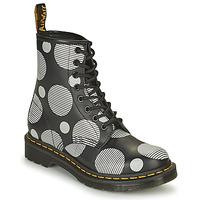 Παπούτσια Γυναίκα Μπότες Dr Martens 1460 Άσπρο / Grey