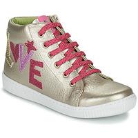 Παπούτσια Κορίτσι Ψηλά Sneakers Agatha Ruiz de la Prada FLOW Beige / Ροζ