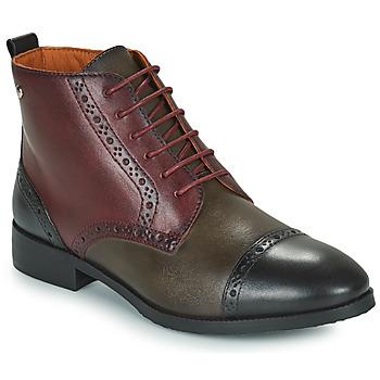 Παπούτσια Γυναίκα Μπότες Pikolinos ROYAL Bordeaux / Black / Brown