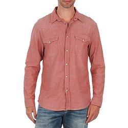 Υφασμάτινα Άνδρας Πουκάμισα με μακριά μανίκια Selected Doha shirt ls r J Red