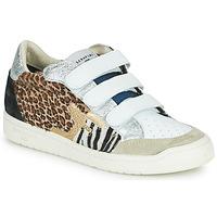 Παπούτσια Γυναίκα Χαμηλά Sneakers Serafini SAN DIEGO Άσπρο / Argenté / Leopard