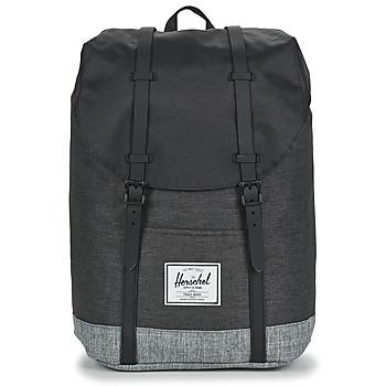 Τσάντες Σακίδια πλάτης Herschel RETREAT Black / Grey