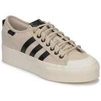 Παπούτσια Γυναίκα Χαμηλά Sneakers adidas Originals NIZZA PLATFORM W Beige / Black