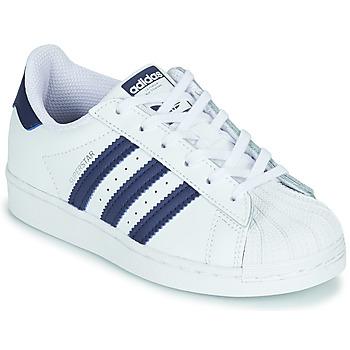 Παπούτσια Παιδί Χαμηλά Sneakers adidas Originals SUPERSTAR C Άσπρο / Μπλέ