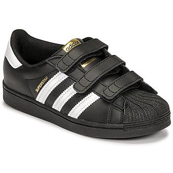 Παπούτσια Παιδί Χαμηλά Sneakers adidas Originals SUPERSTAR CF C Black / Άσπρο