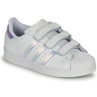 Παπούτσια Παιδί Χαμηλά Sneakers adidas Originals SUPERSTAR CF C Άσπρο / Argenté