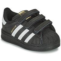 Παπούτσια Παιδί Χαμηλά Sneakers adidas Originals SUPERSTAR CF I Black / Άσπρο