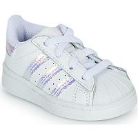 Παπούτσια Κορίτσι Χαμηλά Sneakers adidas Originals SUPERSTAR EL I Άσπρο / Iridescent