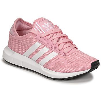 Παπούτσια Κορίτσι Χαμηλά Sneakers adidas Originals SWIFT RUN X J Ροζ / Άσπρο