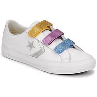 Παπούτσια Κορίτσι Χαμηλά Sneakers Converse STAR PLAYER 3V GLITTER TEXTILE OX Άσπρο / Multicolour