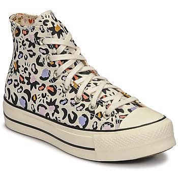 Παπούτσια Γυναίκα Ψηλά Sneakers Converse CHUCK TAYLOR ALL STAR LIFT MYSTIC WORLD HI Άσπρο / Multicolour