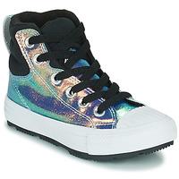 Παπούτσια Κορίτσι Ψηλά Sneakers Converse CHUCK TAYLOR ALL STAR BERKSHIRE BOOT IRIDESCENT LEATHER HI Black / Brillant