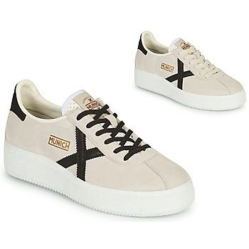 Παπούτσια Γυναίκα Χαμηλά Sneakers Munich BARRU SKY Beige / Black
