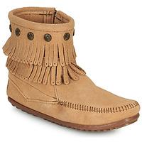 Παπούτσια Γυναίκα Μπότες Minnetonka DOUBLE FRINGE SIDE ZIP BOOT Brown