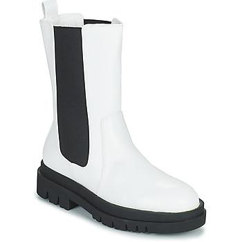 Παπούτσια Γυναίκα Μπότες Moony Mood PAULA Άσπρο
