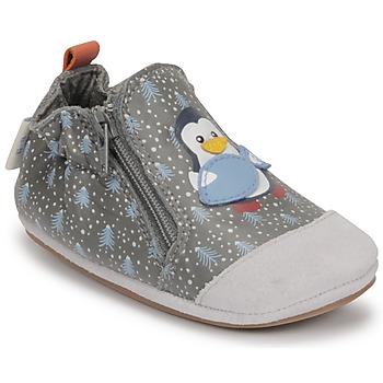 Παπούτσια Αγόρι Σοσονάκια μωρού Robeez BLUE PINGUINS Grey