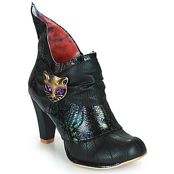 Παπούτσια Γυναίκα Μποτίνια Irregular Choice MIAOW Black / Green