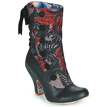 Παπούτσια Γυναίκα Μποτίνια Irregular Choice REINETTE Black / Red