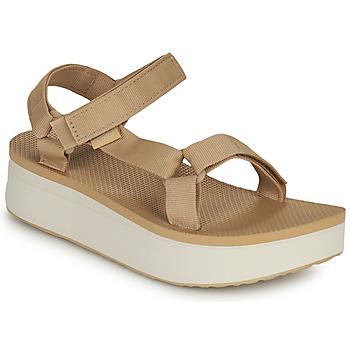 Παπούτσια Γυναίκα Σανδάλια / Πέδιλα Teva Flatform Universal Beige / Άσπρο