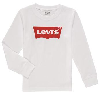 Υφασμάτινα Αγόρι Μπλουζάκια με μακριά μανίκια Levi's L/S BATWING TEE Άσπρο