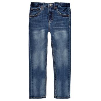 Υφασμάτινα Αγόρι Skinny jeans Levi's 510 SKINNY FIT EVERYDAY PERFORMANCE JEANS Μπλέ / Fonce