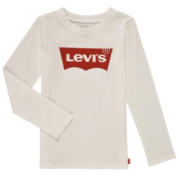 Υφασμάτινα Κορίτσι Μπλουζάκια με μακριά μανίκια Levi's LS BATWING TEE Άσπρο