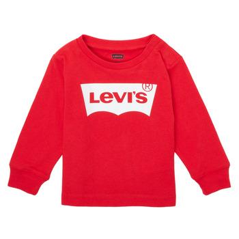 Υφασμάτινα Αγόρι Μπλουζάκια με μακριά μανίκια Levi's L/S BATWING TEE Red