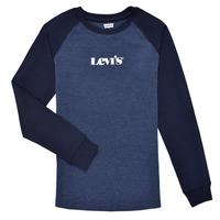 Υφασμάτινα Αγόρι Μπλουζάκια με μακριά μανίκια Levi's LONG SLV WAFFLE TEE SHIRT Marine