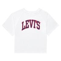 Υφασμάτινα Κορίτσι T-shirt με κοντά μανίκια Levi's SSRGLANHGHRISETESHIRT Άσπρο