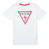 Υφασμάτινα Αγόρι T-shirt με κοντά μανίκια Guess CELAVI Άσπρο