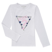 Υφασμάτινα Κορίτσι Μπλουζάκια με μακριά μανίκια Guess MONICA Άσπρο