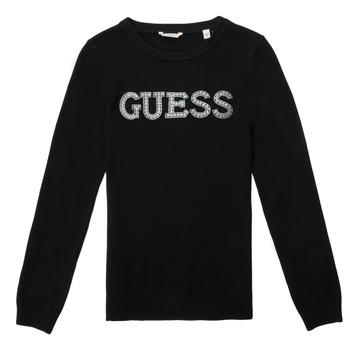 Υφασμάτινα Κορίτσι Πουλόβερ Guess TAKEI Black