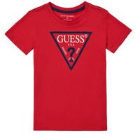 Υφασμάτινα Αγόρι T-shirt με κοντά μανίκια Guess THERONN Red