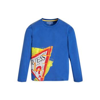 Υφασμάτινα Αγόρι Μπλουζάκια με μακριά μανίκια Guess LISTIN Μπλέ