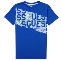 Υφασμάτινα Αγόρι T-shirt με κοντά μανίκια Guess LISTIN Μπλέ