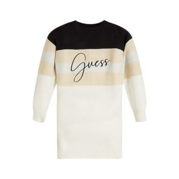Υφασμάτινα Κορίτσι Κοντά Φορέματα Guess HOULLA Beige / Και / Μπλέ