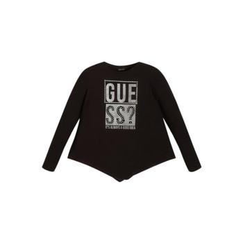 Υφασμάτινα Κορίτσι Μπλουζάκια με μακριά μανίκια Guess UPSET Black