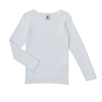Υφασμάτινα Κορίτσι Μπλουζάκια με μακριά μανίκια Petit Bateau FATRE Άσπρο